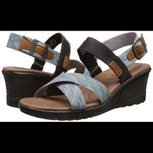 Keen skyline wedge strap sandal 7.5 blue white